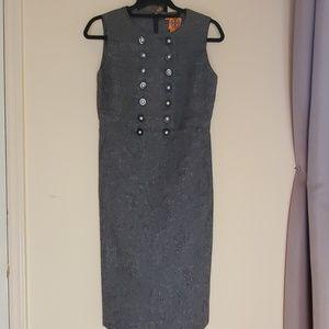 Tory Burch Gray Tweed Dress